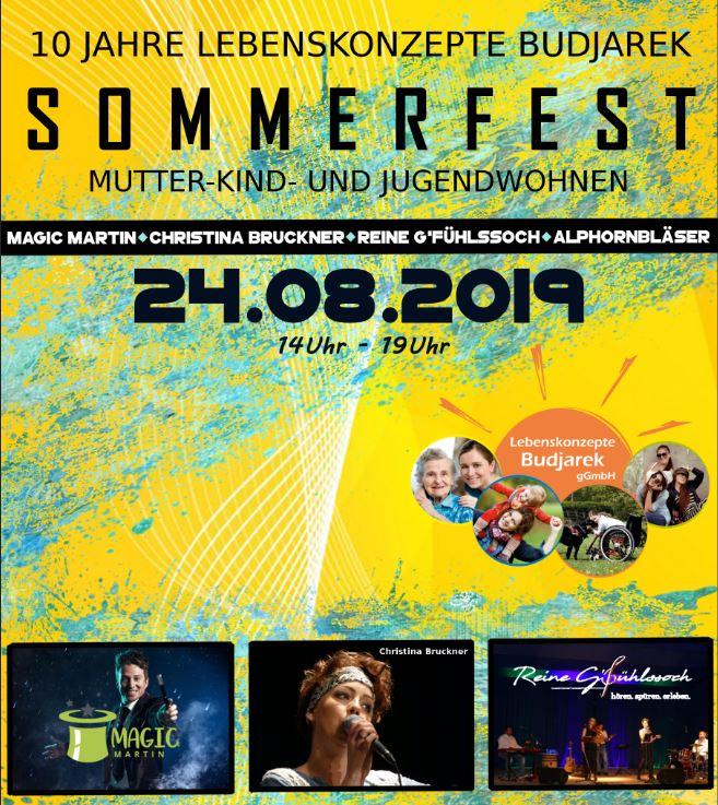 Sommerfest: Wir Feiern 10 Jahre Lebenskonzepte-Budjarek!